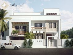 exterior redesign to a villa in cairo design, modeling and visualization by me  for the interior design renders please check the following link : kasrawy.deviantart.com/gallery…