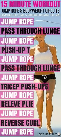 Yes you can! Try this killer jump rope bodyweight circuit workout and jump into shape with this quick workout.