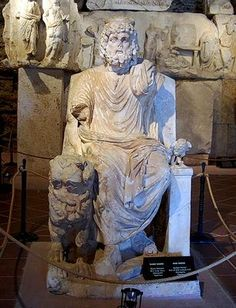 Hades statue in the Pamukkale Museum.