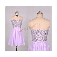 Lavender Beaded Short Prom Dresses Bridesmaid Dresses Wedding Party... (110 CAD) ❤ liked on Polyvore featuring dresses, black and women's clothing