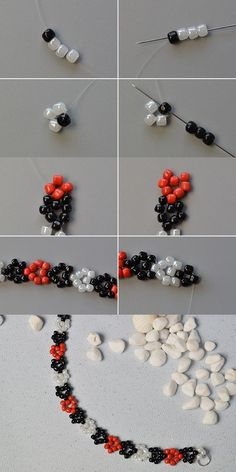 flower chain ~ Seed Bead Tutorials