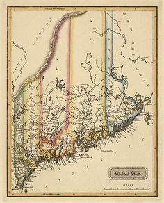 Old Mount Desert Island Map Art Print Acadia National Park - Antique map of maine