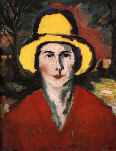 Kasimir Malevich The Woman wear the hat in yellow