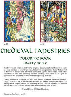 Medieval Tapestries Coloring