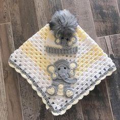 Elephant Baby Blanket, Baby Blanket Size, Crochet Blanket Patterns, Baby Blanket Crochet, Baby Patterns, Knitting Patterns, Handmade Baby Blankets, Manta Crochet, Baby Yellow