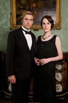 Dan Stevens as Matthew Crawley and Michelle Dockery as Lady Mary Crawley in Downton Abbey