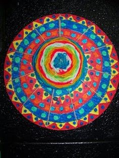 Circle weaving- these are great! I did this with my students.