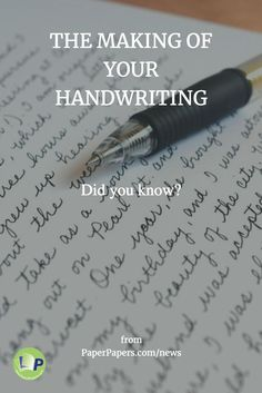 Handwriting is one of the core skills taught in the formal educational system. If you had an American education, you probably learnt to write around 2nd grade. Using a pen or pencil, you drew the words of the English alphabet on paper, slowly and inconsistently...