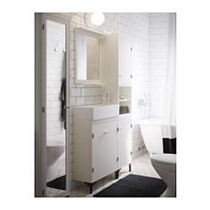 SILVERÅN / LILLÅNGEN Wash-basin cabinet with 2 doors - IKEA