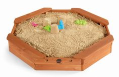The Treasure Beach Sandbox is the perfect place for burying the loot or digging for gold! This octagonal shaped wooden sandbox will inspire imaginativ. Wooden Sandbox, Kids Sandbox, Water Toys, Water Play, Sand Pits For Kids, Treasure Beach, Water Tables, Play Table, Sand And Water