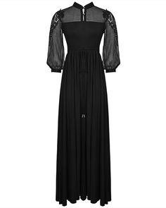 Stunningly sexy long black summer maxi dress by PUNK RAVE. Cut from top quality lightweight jersey cotton in a comfortable and versatile fit, with unique sheer black panels to the bust and upper back, adjoining to floaty sheer sleeves. | eBay!