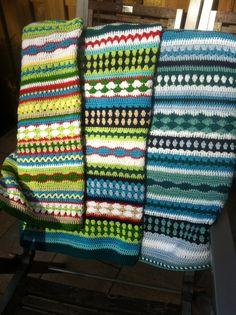 Babydekentjes naar patroon van lanas ana