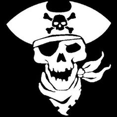New Custom Screen Printed T-shirt Pirate Skull Silhouette Small Skull Silhouette, Police Flag, Custom Screen Printing, Pirate Skull, Pirate Theme, Cricut Creations, Glass Etching, Pirates, Asd