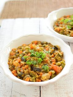 Moroccan Vegetable and Lentil Stew from Scandi Foodie