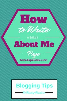 @ReadingRes shares some great tips on how to write an About Me page for your blog and what to include on it