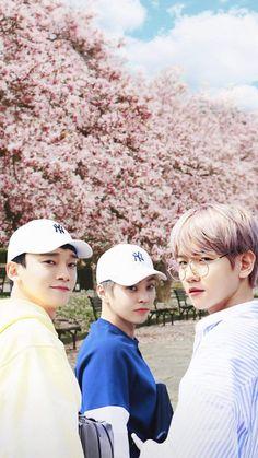Exo cbx chen, xiumin and baekhyun Exo Chen, Exo Ot12, Chanbaek, Kpop Exo, Exo K, Baekhyun Chanyeol, Park Chanyeol, Shinee, Tao