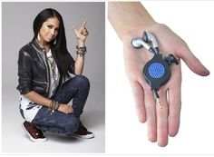 jasmine V with chicBuds swarovski crystal earbuds