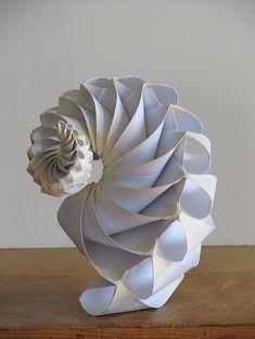 Made by Bradford Hansen-Smith / paper art spiral / origami Kirigami, Instalation Art, Origami Paper Art, Paper Folding Crafts, Origami Folding, Elements Of Art, Sculpture Art, Paper Sculptures, Paper Cutting