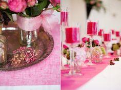 centre de table bocal mariage Fleurs Pinterest