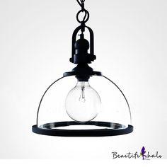 LOFT Black Finished Downward Bowl Shaped Mini Pendant - Beautifulhalo.com