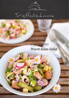 Der Gartenbeiz-Klassiker!  Wurst-Käse-Salat an leichter Sauce mit Senf und Kräutern