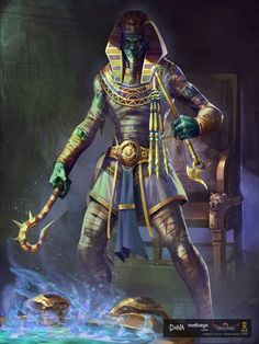 #character #death #egyptiangod #god #illustration #osiris #painting #egyptian #egyptianmythology #godofdeath #videogameart
