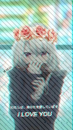 Sad Aesthetic Wallpaper Girl Ideas For 2019 Cool Anime Girl, Cute Anime Pics, Beautiful Anime Girl, Anime Art Girl, Anime Love, Glitch Wallpaper, Cute Anime Wallpaper, Sad Wallpaper, Fille Anime Cool