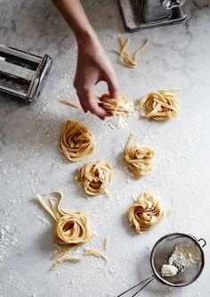 Homemade pasta.