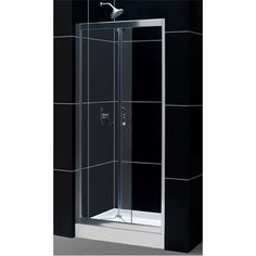 Dreamline SHDR-4536726-01 Butterfly 34 - 35-1 2 x 72 Bi-Fold Shower Door with Clear Glass in Chrome