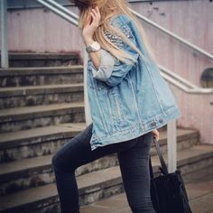 We're still down for some denim. #jacket #outfit #loveit