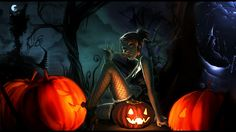 Halloween Cartoons | Click on above image for a 1920x1080 wallpaper.