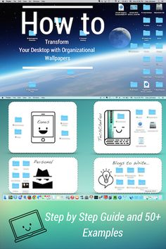 How to Transform Your Desktop with Organizational Wallpapers - includes a step by step guide and 50+ Examples