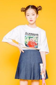 Sun Light Girl Tee | Korean Fashion