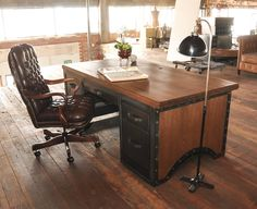 Chairman Desk - built to order by Vintage Industrial