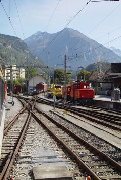 train yard, Meiringen, Switzerland