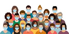 Group of people wearing medical masks. , desenho Group of people wearing medical masks. - Buy this stock vector and explore similar vectors at Adobe Stock Poster Competition, Hand Hygiene, Distinguish Between, Feeling Sick, Plant Science, We The People, Waves, Medical, Sketches