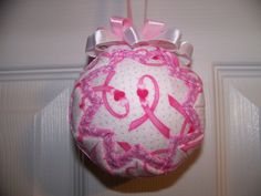 Breast Cancer Awareness Ribbon Quilted by BayCountryCreations
