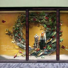 Anthropologie created festive Holiday windows where each window show different type of birds, also called as the feathered friends. Description from thebwd.com. I searched for this on bing.com/images