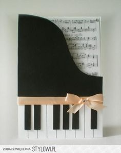 This is a card, but I think it could be adapted for a scrapbook page for my daughter's piano recitals. Cute Cards, Diy Cards, Step Card, Tarjetas Diy, Shaped Cards, Creative Cards, Scrapbook Cards, Scrapbook Layouts, Homemade Cards