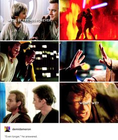 Obi-Wan Kenobi and Anakin Skywalker - friends forever Stephen Hawking, Star Wars Art, Star Trek, Star Wars Personajes, Star Wars Pictures, Star War 3, The Force Is Strong, Anakin Skywalker, Star Wars Rebels