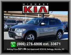2007 BMW X5 3.0si SUV  Rear Stabilizer Bar: Regular, Power Remote Trunk Release, Black Grille W/Chrome Surround, Front Leg Room: 40.0, Overall Length: 191.1, Overall Height: 69.5,
