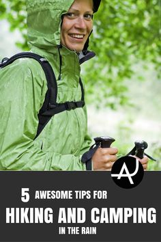 5 Tips For Hiking and Camping in the Rain – Hiking Tips For Beginners – Backpacking Tips and Tricks for Women and Men via @theadventurejunkies