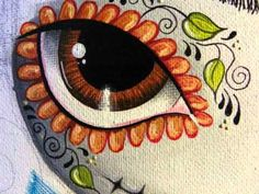 Frida Kahlo~Día de los Muertos painting