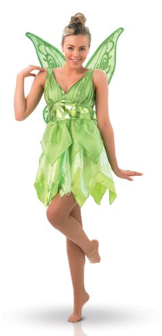 Déguisement Fée Clochette™ femme : Ce déguisement de Fée Clochette pour femme est sous licence officielle Disney™. Il se compose d'une robe et d'une paire d'ailes. Le haut de la robe est vert feuille,...