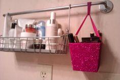 Isabella's makeup storage wall