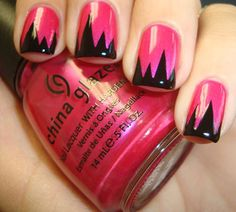 Funky and French nail art