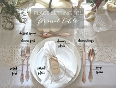 Place Setting 101  Formal Table | Dreamery Events & Place Setting 101 : Semi Formal Table | Dreamery Events ...