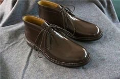 Chukka,Vintage London style,Handmade Goodyear Welted  Men's Shoes
