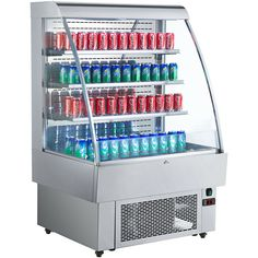 $2000.99 • Buy 40  Open Refrigerated Display Case Air Curtain Merchandisers Stainless Steel Beverage Refrigerator, Open Type, Display Case, Led, Ebay, Glass, Commercial, Layers