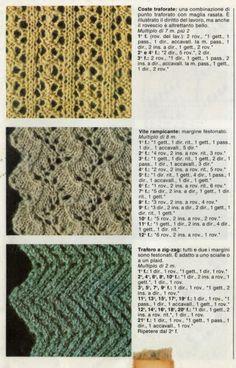 I punti traforati nel lavoro a maglia sono tutti quei punti che presentano un motivo aperto. Ne esistono moltissimi con tante variazioni.